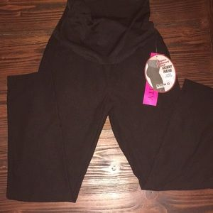 Pants - Black Maternity Stretch Pants